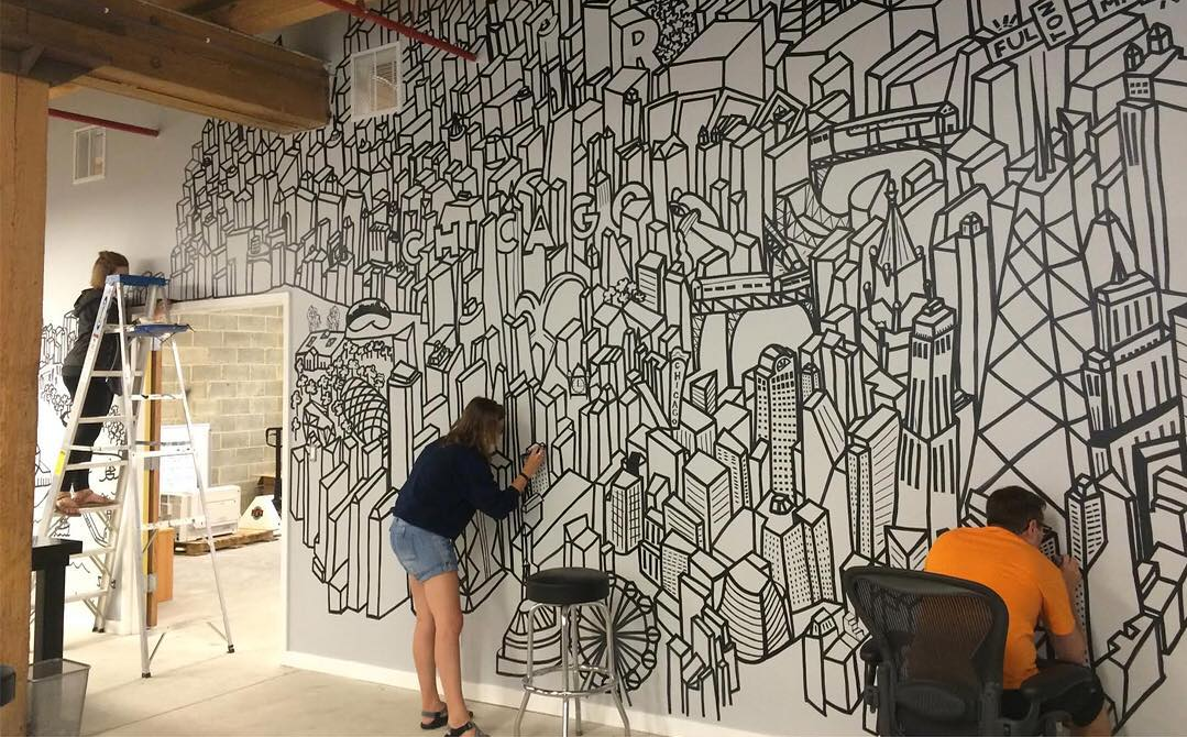 Real art chicago crafts a mural ode to the windy city for How to design a mural